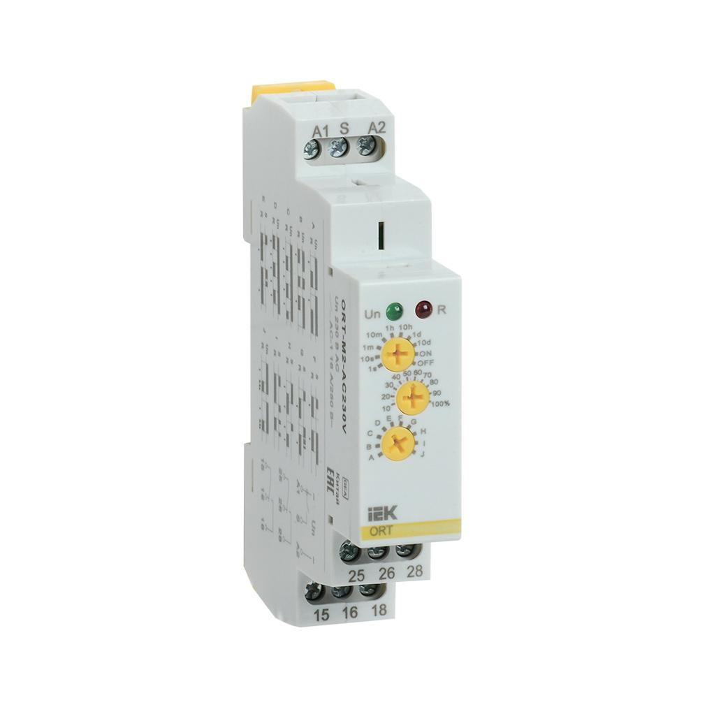 Реле времени ORT многофункциональное 2 контакта 230В AС IEK