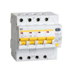 Дифференциальный автоматический выключатель АД14 4Р 10А 30мА IEK 1