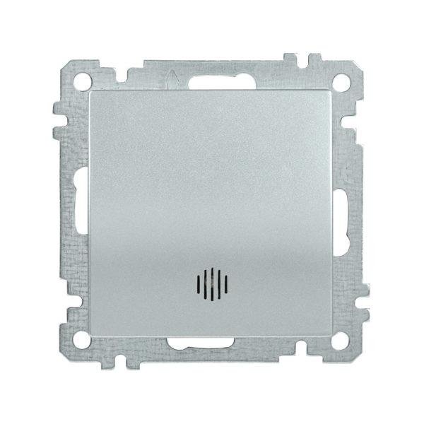 Выключатель 1-клавишный с индикацией ВС10-1-1-Б 10А BOLERO серебряный IEK