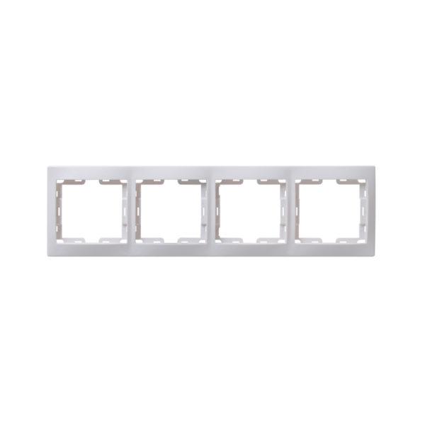 Рамка 4-местная вертикальная РВ-4-КБ КВАРТА белый IEK