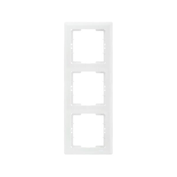 Рамка 3-местная вертикальная РВ-3-ББ BOLERO белый IEK