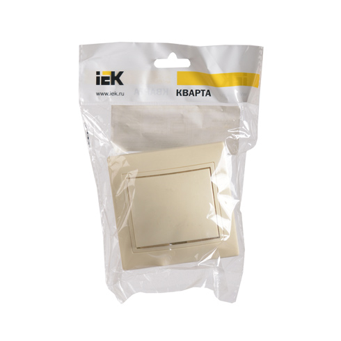 Выключатель 1-клавишный ВС10-1-0-Км 10А керамика КВАРТА кремовый IEK