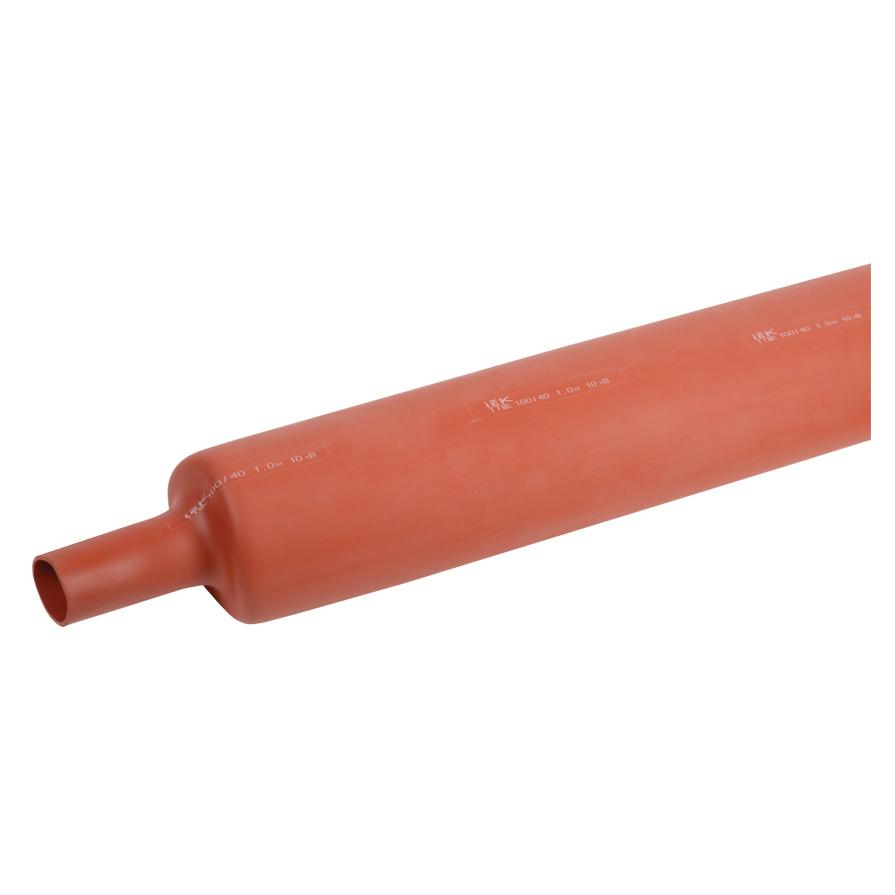 Трубка термоусаживаемая ТТШс 100/40 10кВ 2,5:1 красная (1м) IEK