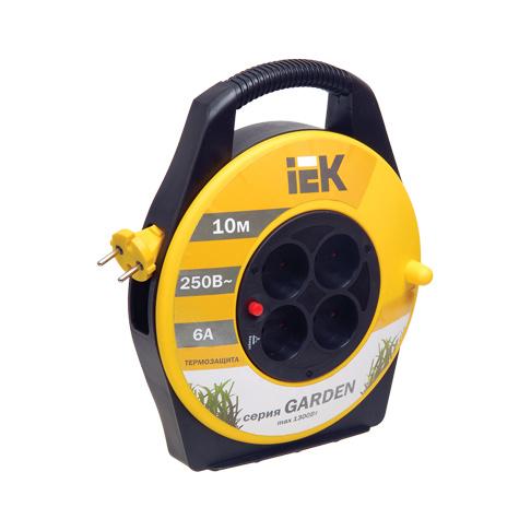 Катушка УК10 с термозащитой 4 места 2P/10м 2х0,75мм2 GARDEN IEK