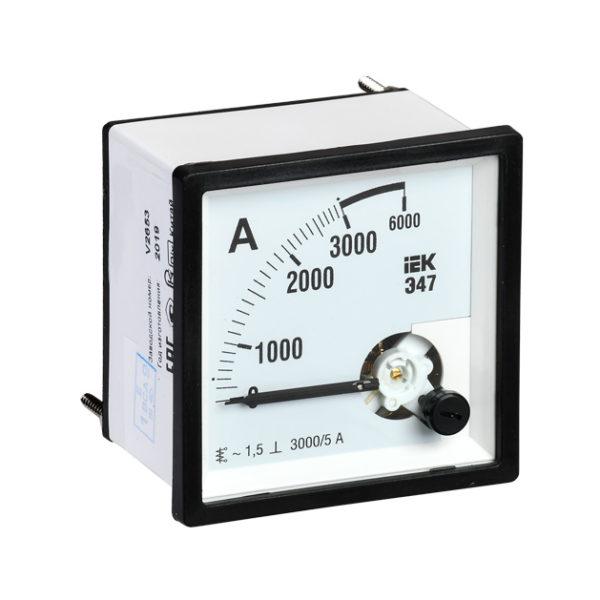 Амперметр аналоговый Э47 3000/5А класс точности 1,5 72х72мм IEK