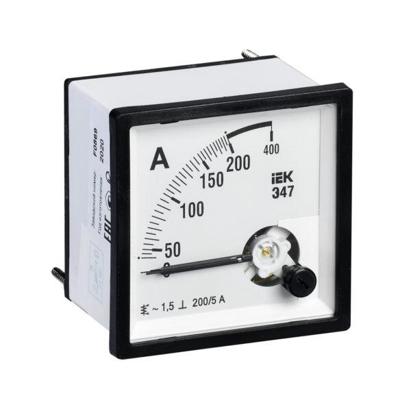 Амперметр аналоговый Э47 200/5А класс точности 1,5 96х96мм IEK