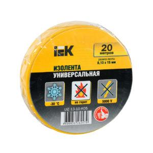 Изолента 0,13х15мм желтая 20м ИЭК