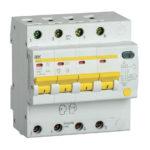 Дифференциальный автоматический выключатель АД14S 4Р 20А 100мА IEK 1