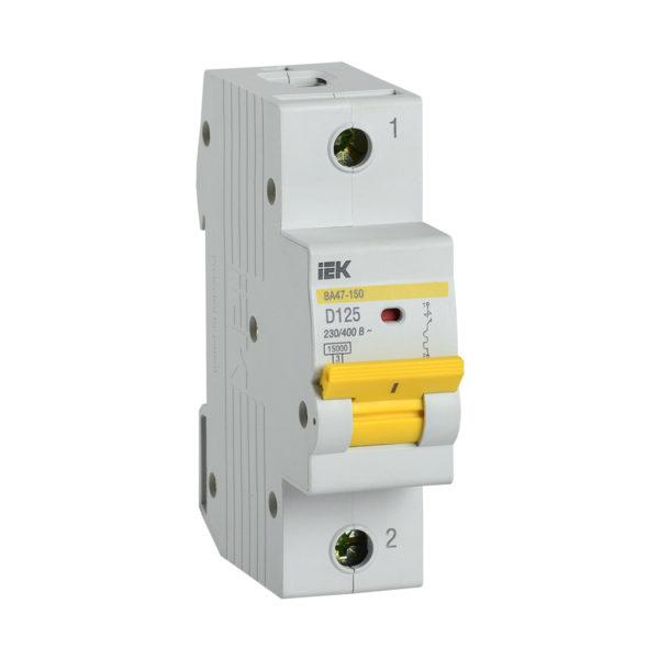 Выключатель автоматический ВА47-150 1Р 125А 15кА D IEK