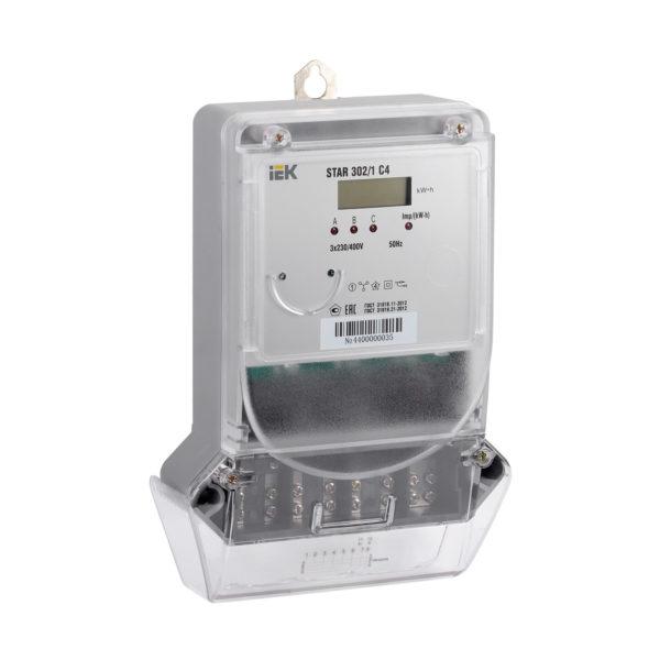 Счетчик электрической энергии трехфазный STAR 302/1 С4-5(60)Э IEK