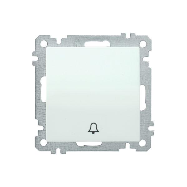 Выключатель 1-клавишный кнопочный звонок ВС10-1-4-Б 10А BOLERO белый IEK