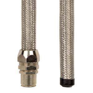 Металлорукав DN 10мм в гладкой EVA изоляции и оплетке из нержавейщей стали Dвн 10 0 мм Dнар 15 0 50 м