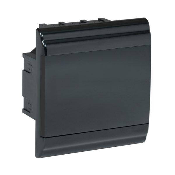 Корпус модульный пластиковый встраиваемый ЩРВ-П-6 PRIME черный IP41 IEK