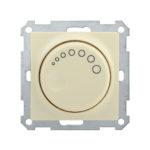 Светорегулятор поворотный с индикацией СС10-1-1-Б 600Вт BOLERO кремовый IEK 1