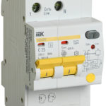 Дифференциальный автоматический выключатель АД12MS 2Р 25А 100мА IEK