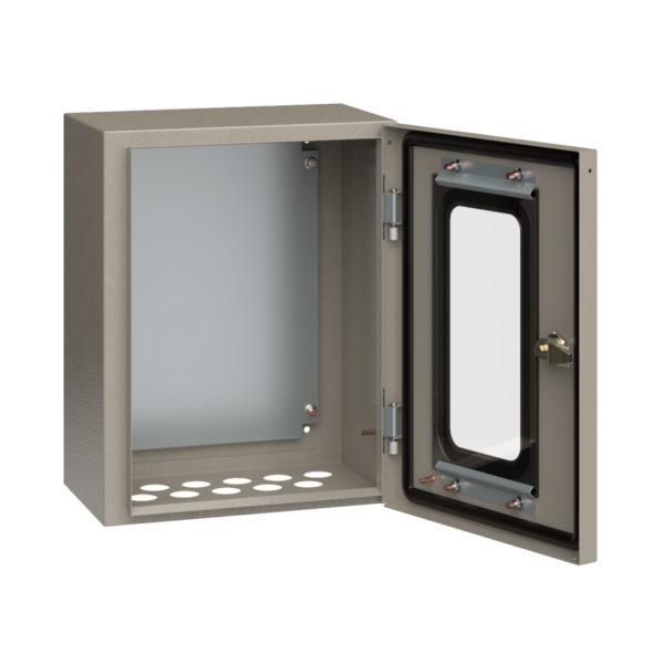 Корпус металлический ЩМП-1-0 У2 IP54 с прозрачной дверцей IEK