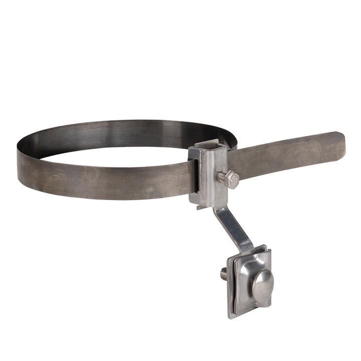 Держатель для труб универсальный D=(0-160) мм нерж. NI и полоса нерж. cталь EKF PROxima