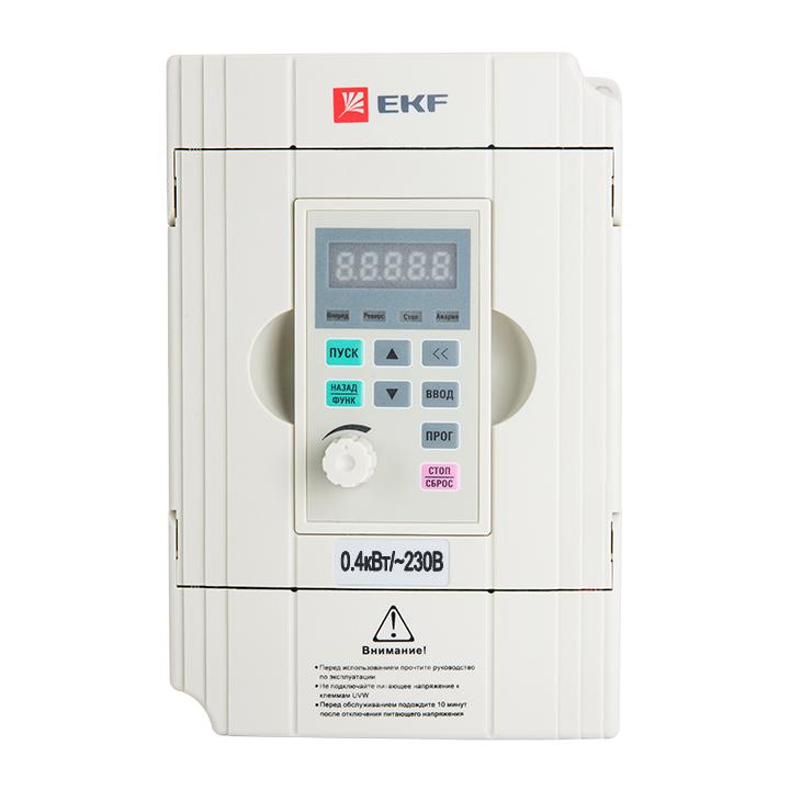 Преобразователь частоты 0,4/0,75кВт 1х230В VECTOR-100 EKF PROxima