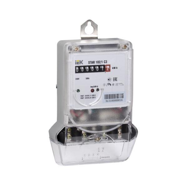 Счетчик электрической энергии однофазный STAR 102/1 C3-5(60)М IEK