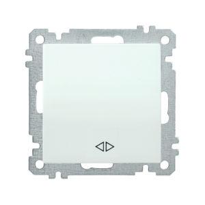 Выключатель 1-клавишный перекрестный ВС10-1-3-Б 10А BOLERO белый IEK