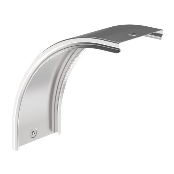 Крышка поворота плавного 90град вертикального внешнего (тип В20) ESCA 150мм IEK