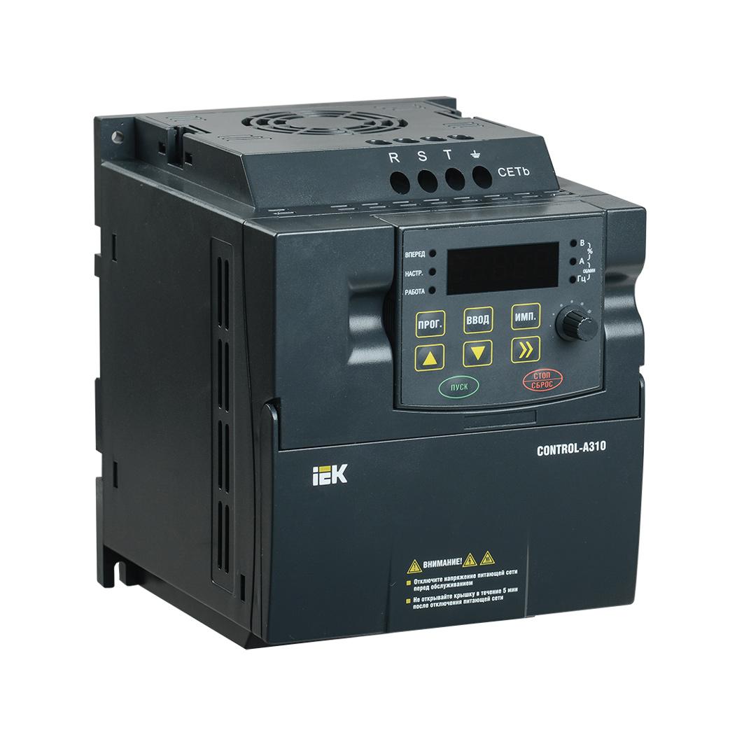 Преобразователь частоты CONTROL-A310 380В 3Ф 0,75кВт 2,3A IEK