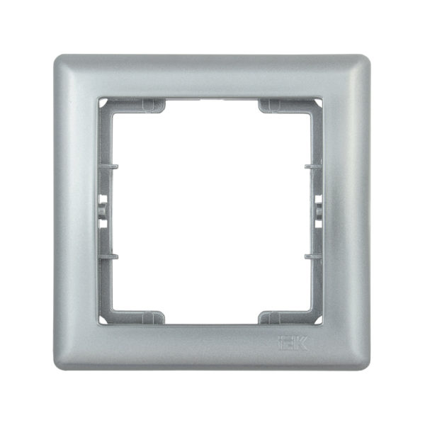 Рамка 1-местная РГ-1-БС BOLERO серебряный IEK