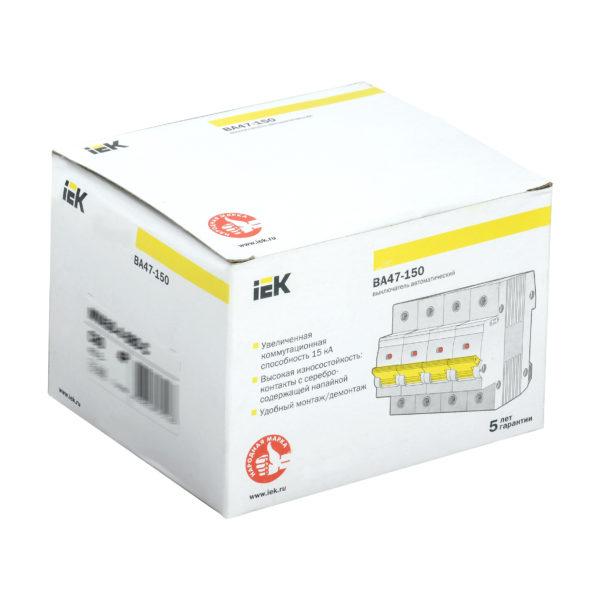 Выключатель автоматический ВА47-150 4Р 63А 15кА C IEK
