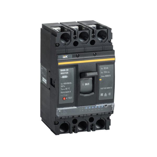 Выключатель автоматический ВА88-39 3Р 630А 35кА MASTER с электронным расцепителем IEK