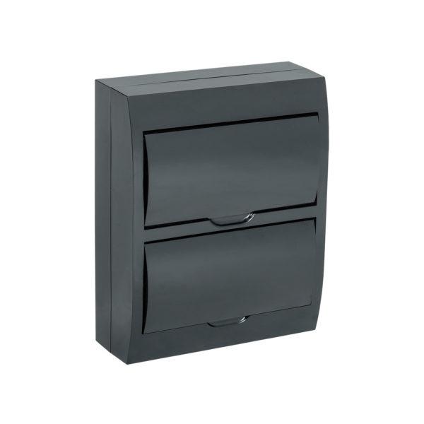 KREPTA 3 Корпус пластиковый ЩРН-П-24 IP41 черная дверь черный IEK