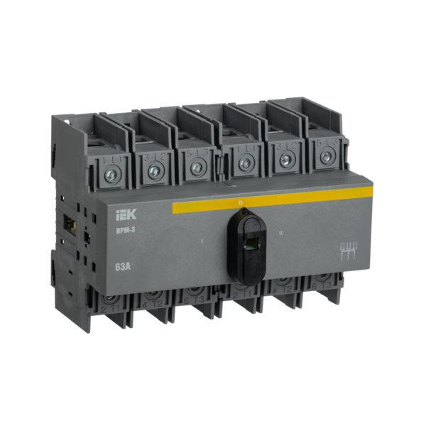 Выключатель-разъединитель модульный ВРМ-3 3P 63А IEK