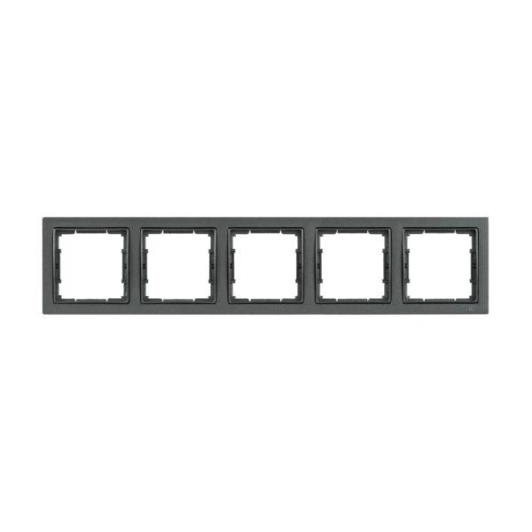 Рамка 5-местная квадратная РУ-5-БА BOLERO Q1 антрацит IEK