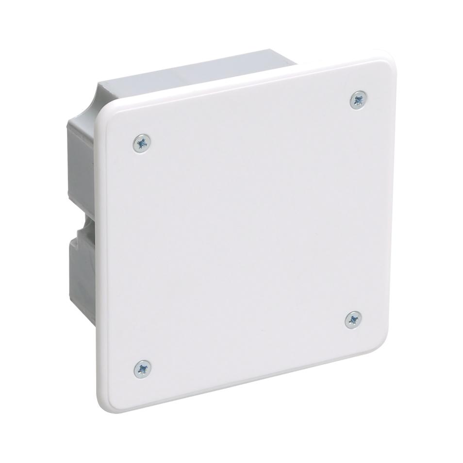 Коробка распаячная КМ41021 92х92x45мм для полых стен (с саморезами, металлические лапки, с крышкой) IEK