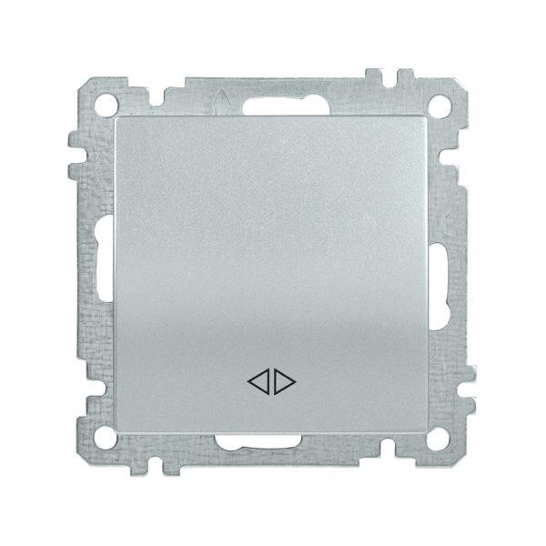 Выключатель 1-клавишный перекрестный ВС10-1-3-Б 10А BOLERO серебряный IEK