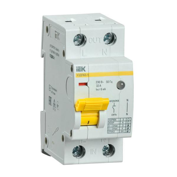 Устройство защиты от дугового пробоя УЗДП63-1 32А IEK