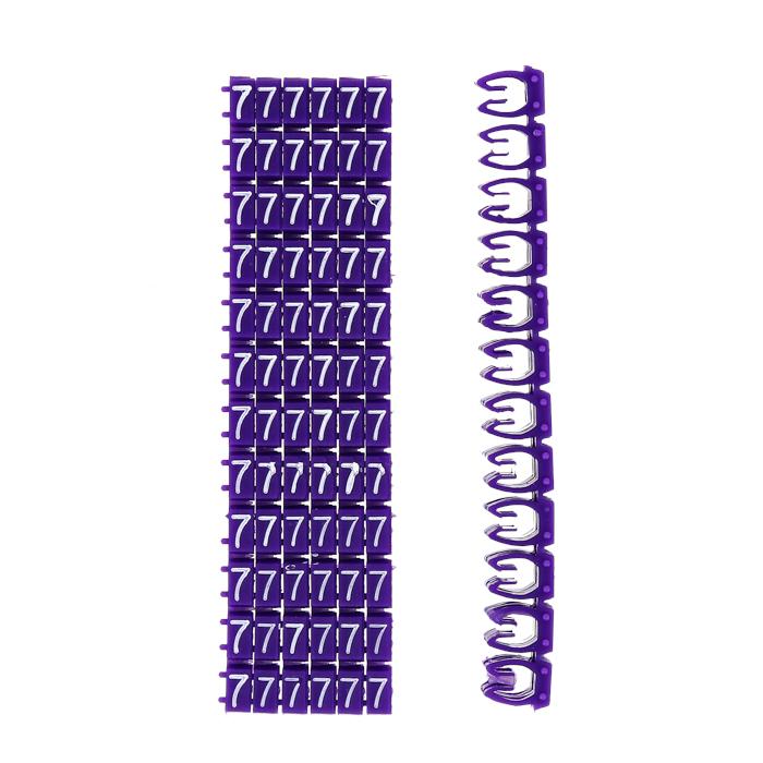 """Кабельный маркер 4кв.мм """"7"""" фиолетовый (к-800ед) EKF PROxima"""
