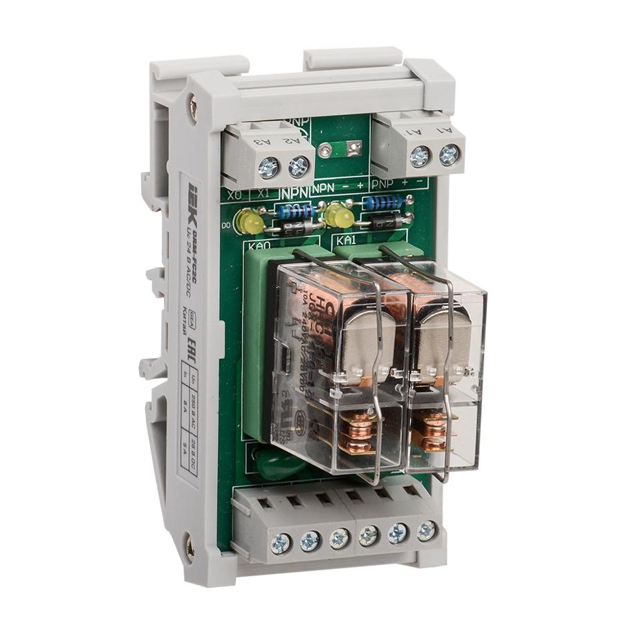 Реле интерфейсное ORM 5 2 контактные группы 24В DC/AC IEK