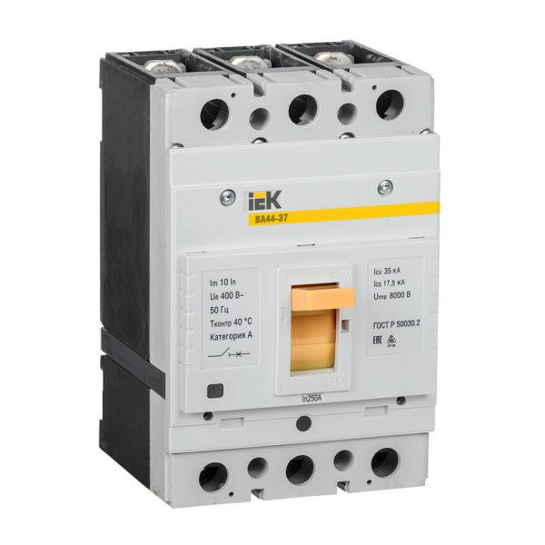 Выключатель автоматический ВА44-37 3Р 250А 35кА IEK