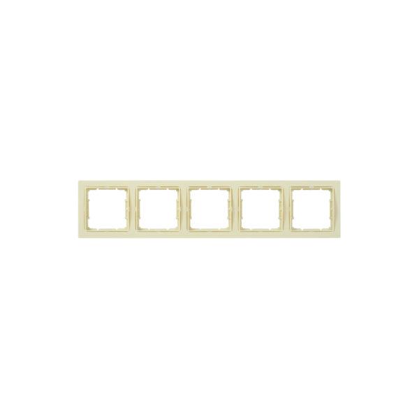 Рамка 5-местная квадратная РУ-5-БК BOLERO Q1 кремовый IEK