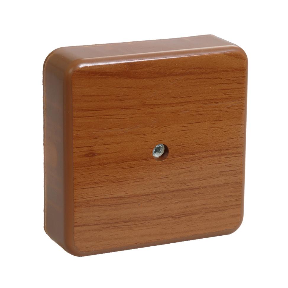 Коробка распаячная КМ41219-05 для открытой проводки 100х100х29мм дуб (6 клемм 6мм2) IEK 1