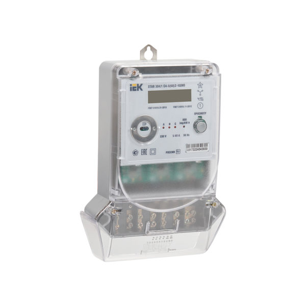 Счетчик электрической энергии трехфазный многотарифный STAR 304/1 С4-5(60)Э 4ШИО IEK