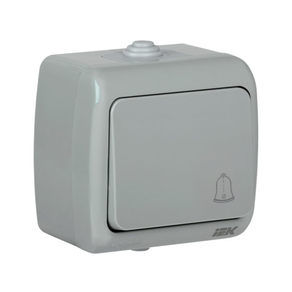 Выключатель 1-клавишный для открытой установки кнопочный ВС-20-1-3-А 10А IP54 AQUATIC IEK