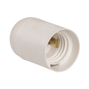 Патрон подвесной Ппл27-04-К02 пластик Е27 белый (индивидуальный пакет) IEK