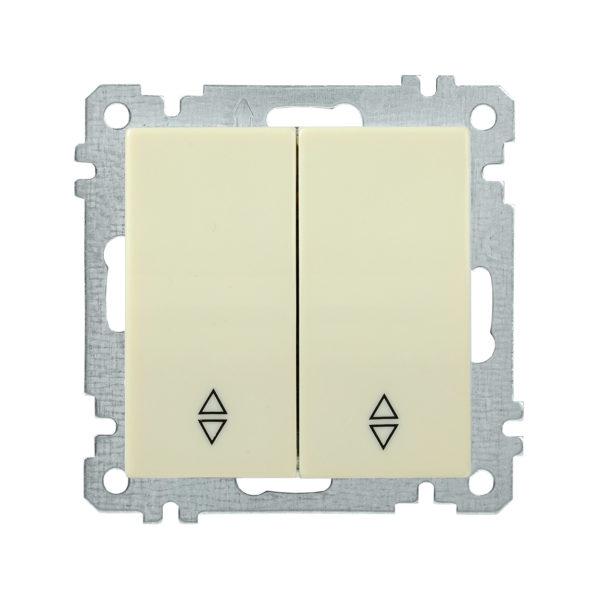 Выключатель 2-клавишный проходной ВС10-2-2-Б 10А BOLERO кремовый IEK