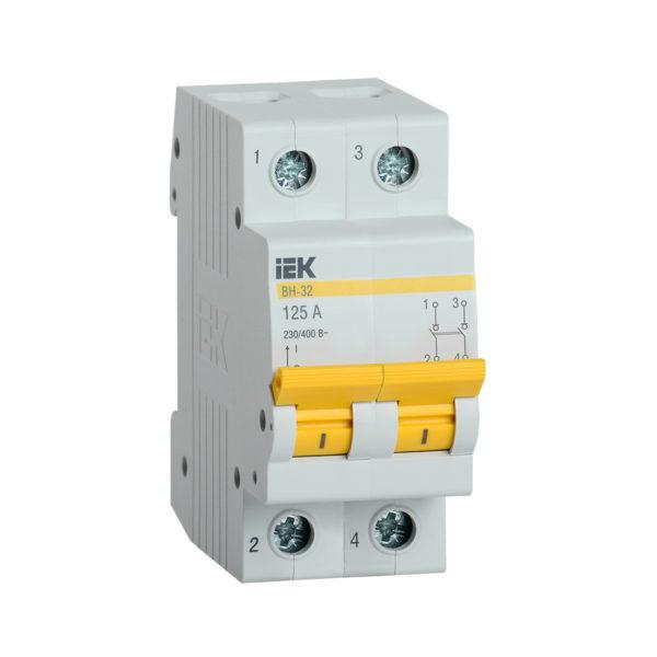 Выключатель нагрузки (мини-рубильник) ВН-32 2Р 125А IEK