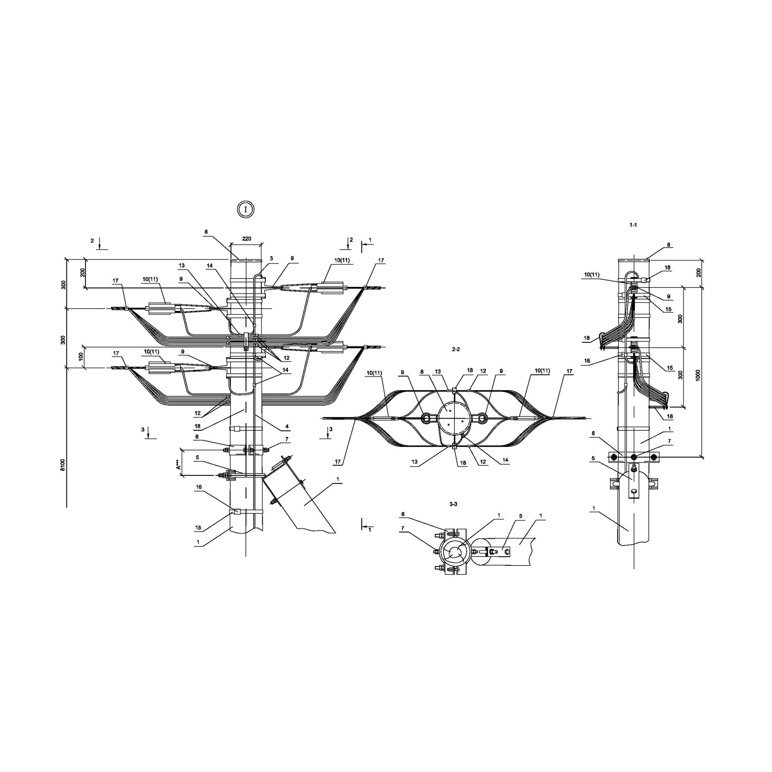 Опора ПАд161 деревянная анкерная переходная двухцепная IEK