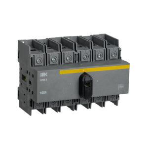 Выключатель-разъединитель модульный ВРМ-3 3P 100А IEK