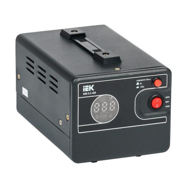 Стабилизатор напряжения переносной HUB 0,5кВА IEK
