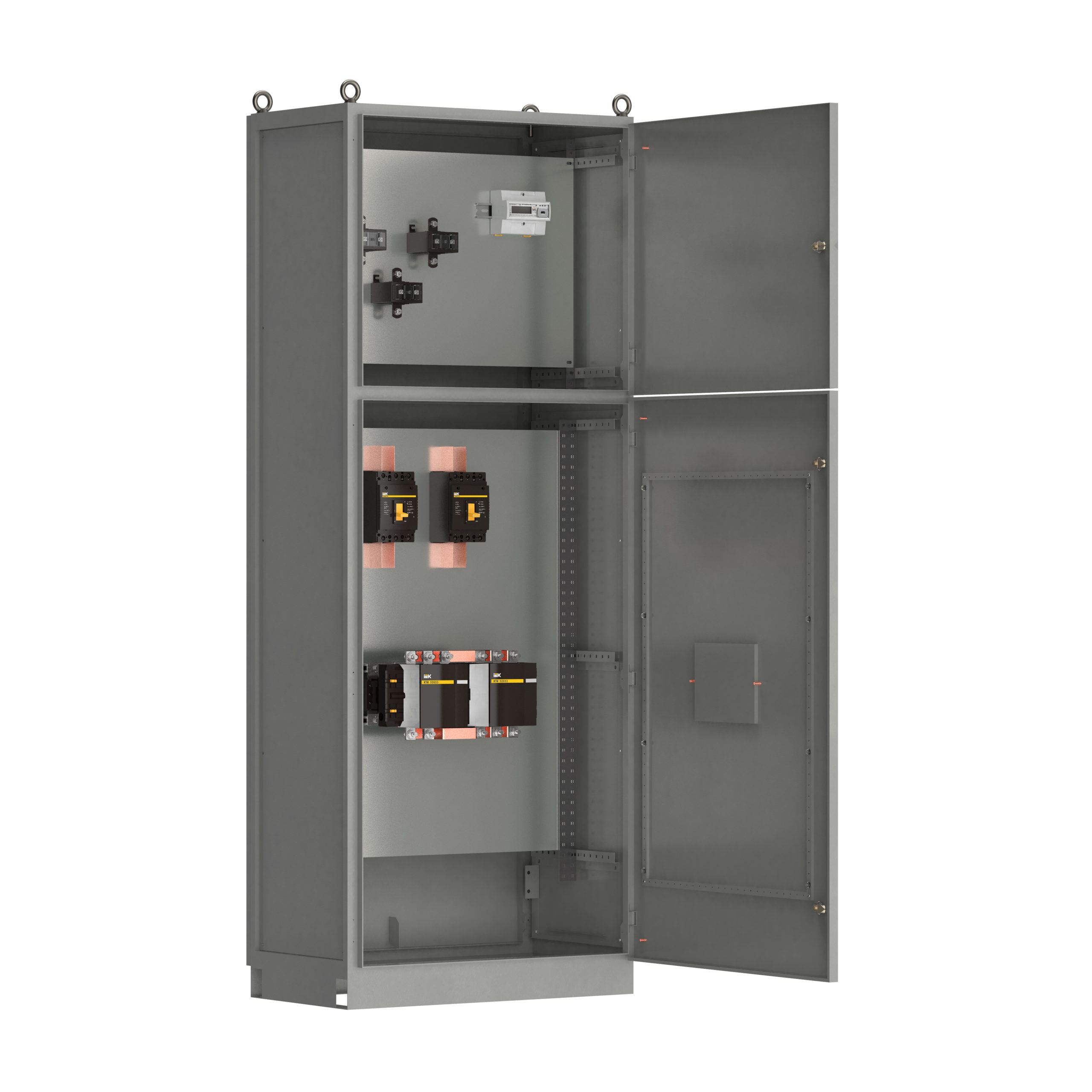 Панель вводная ВРУ-8503 МУ 2ВА-8-16-0-30 выключатели автоматические 3Р 2х160А контактор реверсивный 185А и учет IEK