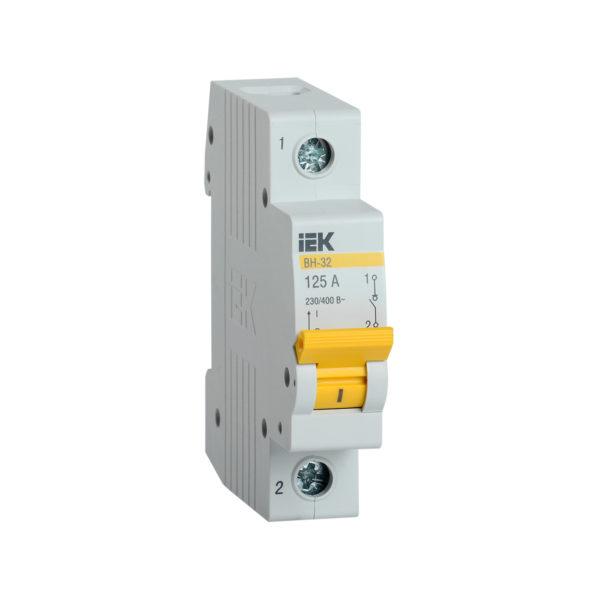 Выключатель нагрузки (мини-рубильник) ВН-32 1Р 125А IEK